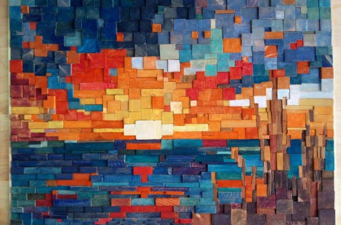 ¿Es posible elaborar mosaicos de madera?